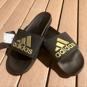 NWT Adidas Gold Badge Of Sport Slip On Flops